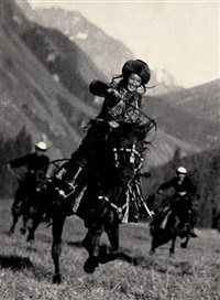 kyrgyzstan horsewoman by max vladimirovitch alpert