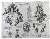 studies for altarpiece dedicated to st. joseph in church of st.teresa, turin by filippo juvara