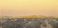 mesa land sunset by fernand harvey lungren