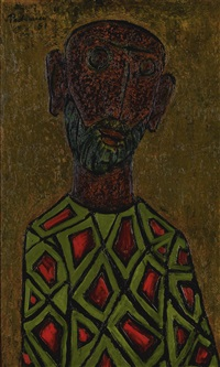 untitled (head) by akbar padamsee