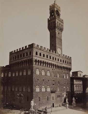 views of the palazzo della signoria and bargello florence 5 works by fratelli alinari