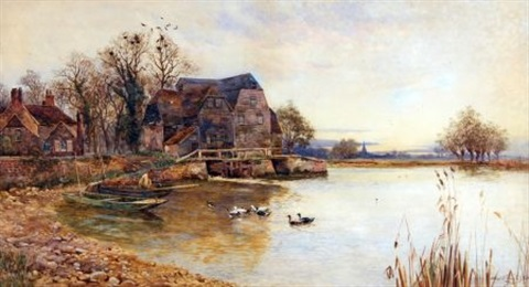 gamlingay mill near st ives by walter stuart lloyd