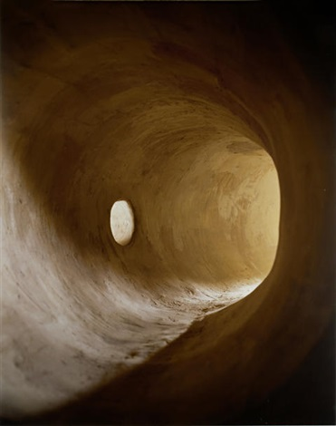 tunnel with bright hole by james casebere