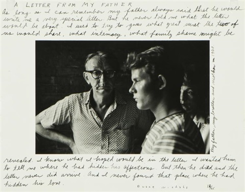 A Letter From My Father by Duane Michals on artnet