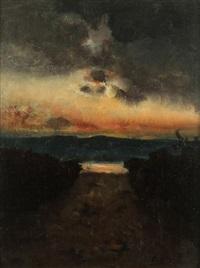 l'orage sur le lac de garde by vincenzo cabianca