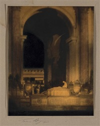 altar before rotunda, palace of the fine arts, panama pacific international exposition by francis joseph bruguiere