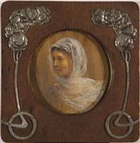 portrait de la fille de l'artiste, sophia ivanovna kramskaya by ivan nikolaevich kramskoy