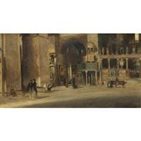 interno della basilica di san marco, venezia by egisto lancerotto
