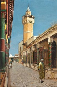 street scene from tunis by carl christian andersen
