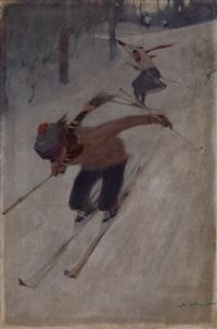 skiers by vasili semenovich svarog