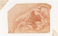 samson allongé et buvant de la mâchoire d'un âne by gaspare traversi