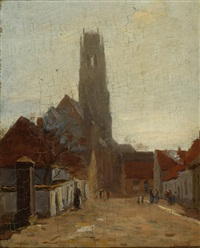 view of the st. maarten kerk in zaltbommel by felicien bobeldyk