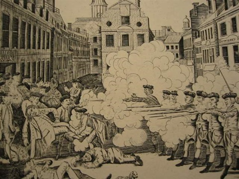 the bloody massacre perpetrated in king street boston on march 5th 1770 2 impressions by paul revere