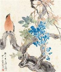 紫藤栖鸟 by jiang hanting