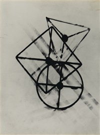 untitled (positive photogram) by lászló moholy-nagy