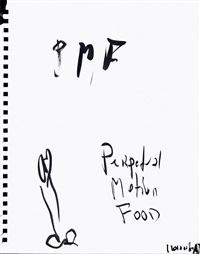 perpetual motion food by rainer ganahl