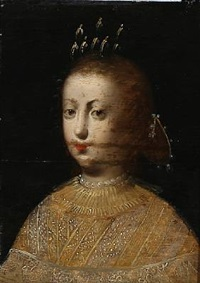 portrait of a woman by diego rodríguez de silva y velásquez