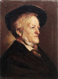 portrait richard wagner by hans sam