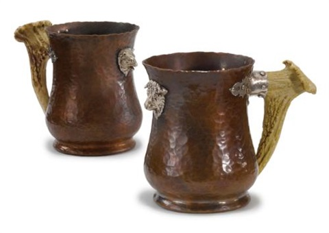 bull and bear tankards pair by joseph heinrich