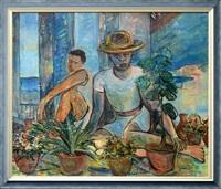 vannedores de plantas (flower market, lima, peru) by bob gesinus visser