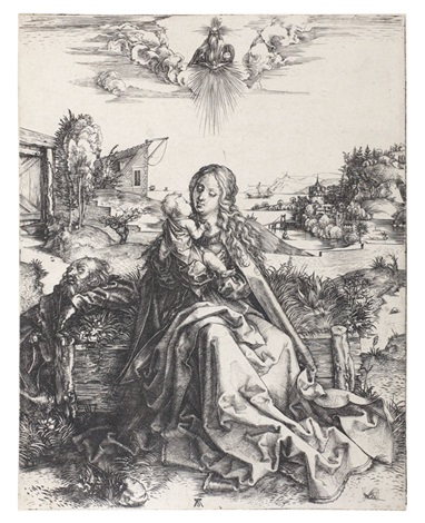 die heilige familie mit der libelle by albrecht dürer