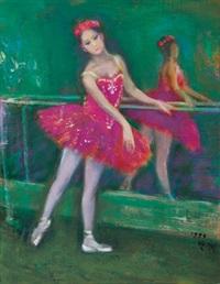 ballerina dancing by shen che tsai