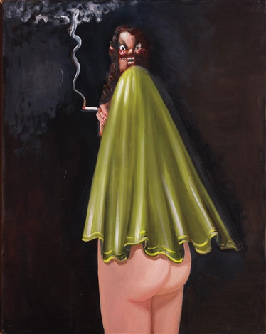 smiling smoker by george condo
