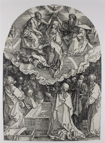 the assumption and coronation of the virgin by albrecht dürer
