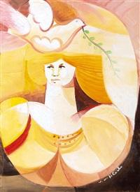 figura con colomba by vittorio maria di carlo