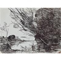 souvenir du lac de nemi by jean-baptiste-camille corot