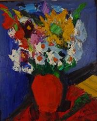 fleurs au vase rouge by pierre ambrogiani