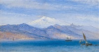 mount etna, the straits of messina by william simpson