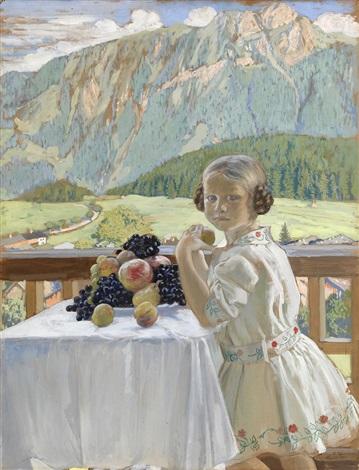 portrait of irina kustodieva by boris mikhailovich kustodiev
