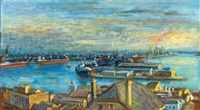 dockyards, newcastle by margaret hannah olley