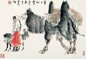 塞上初雪 by liu dawei