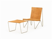 bachelor chair with stool by verner panton