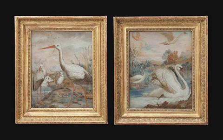 des cygnes des hérons pair by anonymous 19