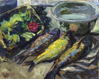 still life with fish by broncia koller-pinell