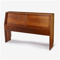 full-size storage headboard by george nakashima