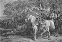 les hussards en manoeuvre, strasbourg by edward hull
