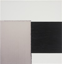 painting paynes grey/red oxide on white by callum innes