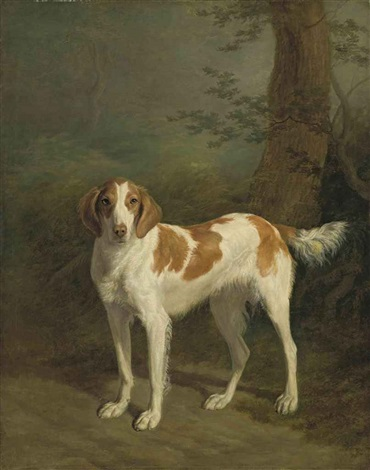 dash, a setter in a wooded landscape by jacques-laurent agasse