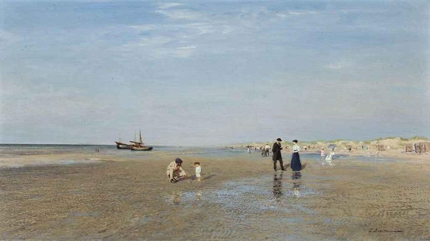 sur la plage by ivan pavlovich pokhitonov