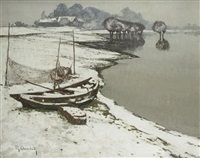 winter bei wittlaer by maximilien (max) clarenbach