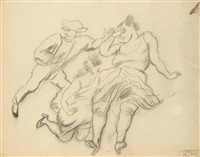 personnages (recto/verso) by jules pascin