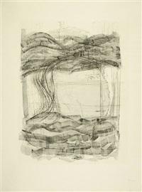 wurzel-melencolia (blatt der folge hommage à dürer) by gerhard (gerhard ströch) altenbourg