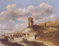 paysage au château by claes dircksz van der heck