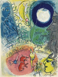 pl. 12, from le cirque by marc chagall