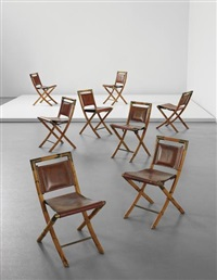 set of eight folding chairs by gabriella crespi