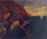 jesus wandelt auf dem meer by andres de santa maria